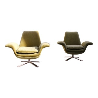 Custom Mid Century Style Lounge Chairs - a pair