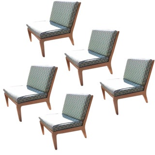 Vintage Wormley Mid-Century Modern Modular Chairs - Set of 5