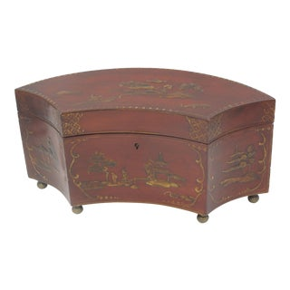 Red Lacquer Tea Caddy