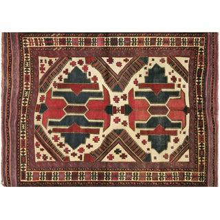 """Afghan Balouch Rug, 4'4"""" x 6'4"""""""