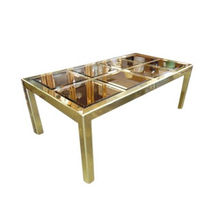 Mastercraft Brass & Bronze Mirror Dining Table