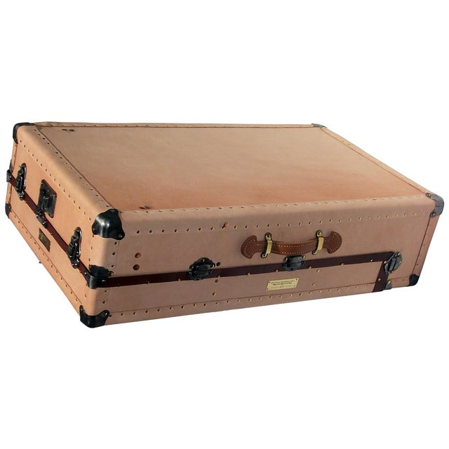 Image of Knapp Antique Tanned Leather Tourist Trunk