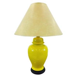Vintage Ginger Jar Lamp With Crackle Finish