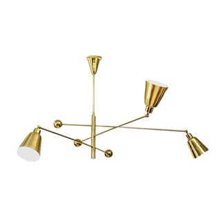 """Movimento LIbero"" Three Lamp Chandelier by Fedele Papagni for Gaspare Asaro"