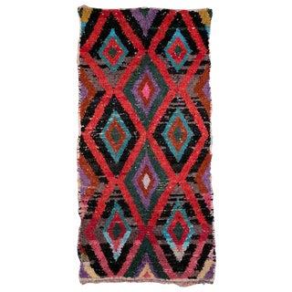 Boucherouite Moroccan Carpet - 8'9'' X 4'3''