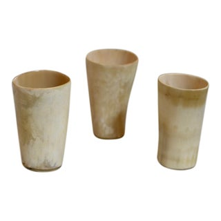 Horn Stirrup Cups - Set of 3
