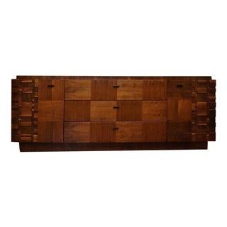 Lane Mid-Century Brutalist Dresser
