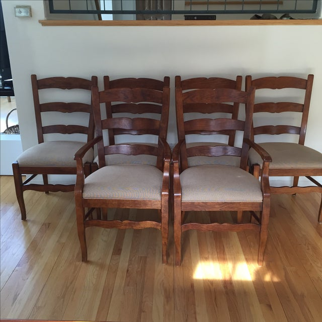 Henredon Ladder Back Dining Chairs - Set of 6 - Image 2 of 5