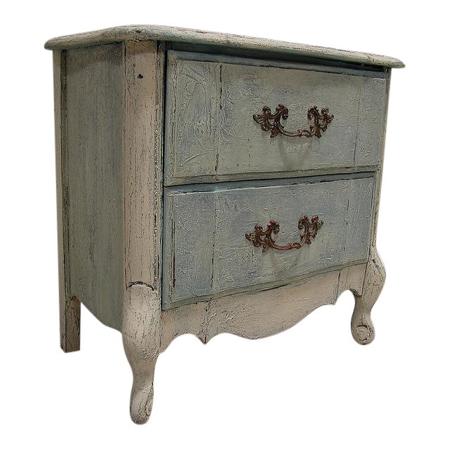Old World French Provincial Two-Drawer Nightstand - Image 1 of 7