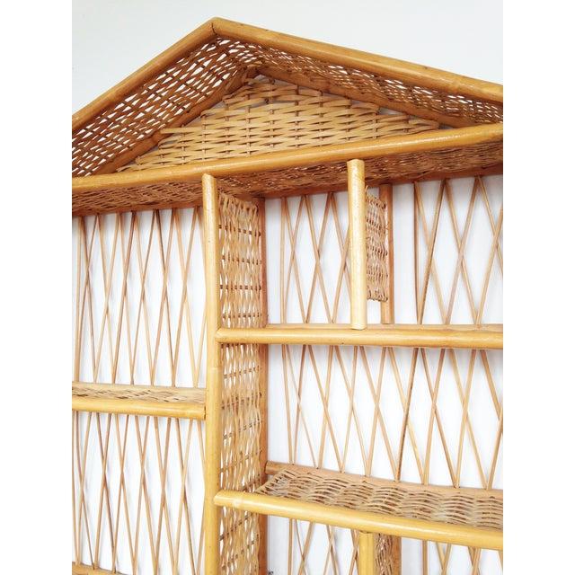 Vintage Rattan Curio House Shelf - Image 5 of 5