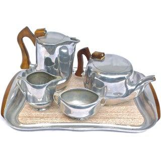 Mid-Century Modern Picquot Ware Tea/Coffee Service