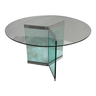 Pace Round Chrome & Glass Dining Table