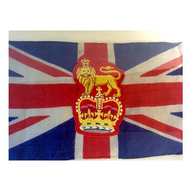 Framed King George Coronation Flag - Image 3 of 4