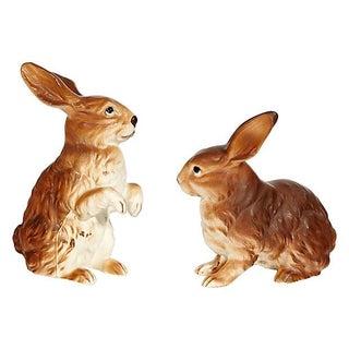 1960s Porcelain Rabbits - A Pair