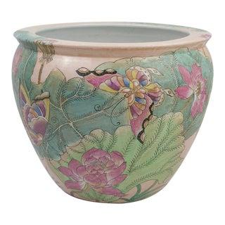 Antique Chinese Porcelain Fish Bowl Planter