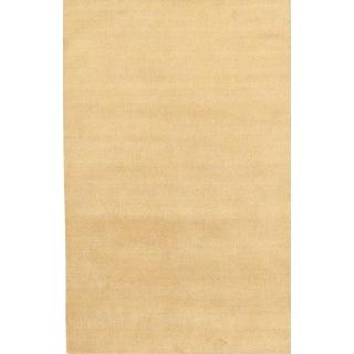 """Modern Hand-Loomed Wool Area Rug - 5' 1"""" X 8' 1"""""""