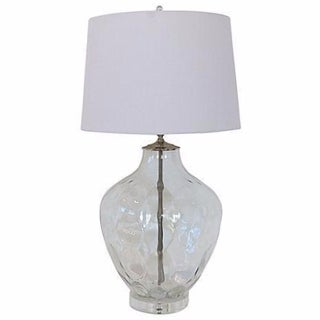 Clear Faceted Italian Glass Lamp