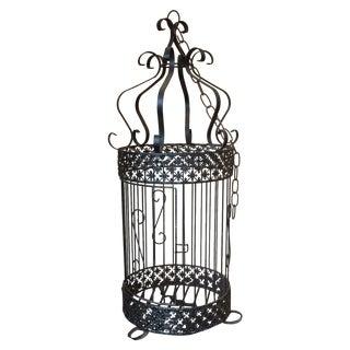 Antique Wrought Iron Bird Cage