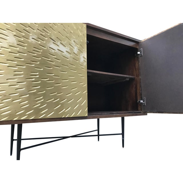 Contemporary Wooden Metal Living Room Cornell Chest Cabinet - Image 6 of 10