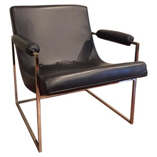Thayer Coggin Scooped Leather Chair