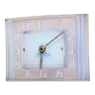 Léon Hatot 'ATO' Opalescent Glass Mantle Clock