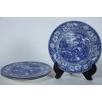 Image of Rural England Blue Dinner Plates - Set of 4
