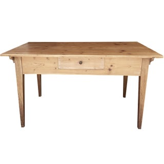 French Pine Single-Drawer Desk