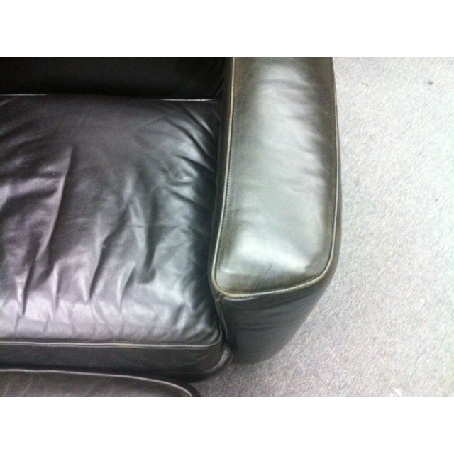 Room and Board Leather Chair & Ottoman - Image 3 of 4