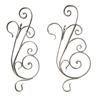 Antique Victorian Architectural Salvage Iron Accents- A Pair