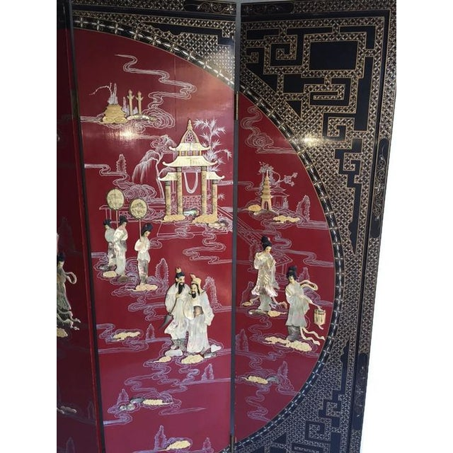 Vintage Chinoiserie Folding Screen - Image 10 of 10
