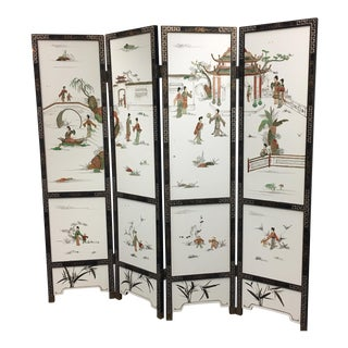 Asian 4 Panel Folding Screen