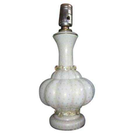 Image of Vintage Murano Art Glass Lamp