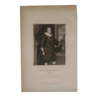 1825 Vintage English Portrait Engraving