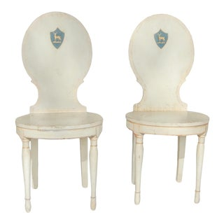 Unusual Pair of Swedish Gustavian Side Chairs