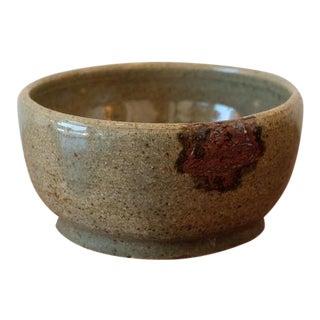 Handmade Olive Green Studio Pottery Decorative Bowl