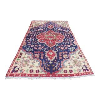 "Vintage Persian Tabriz Rug - 3'0"" x 4'7"""