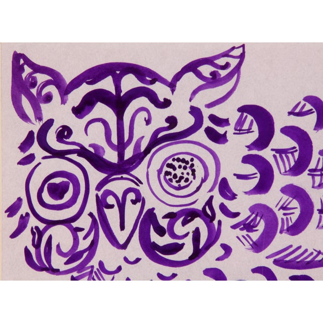 Purple Owl Painting by Phillip Callahan - Image 4 of 5