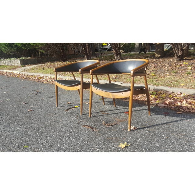 James Mont Vintage Mid-Century Lounge Chairs - A Pair - Image 5 of 7