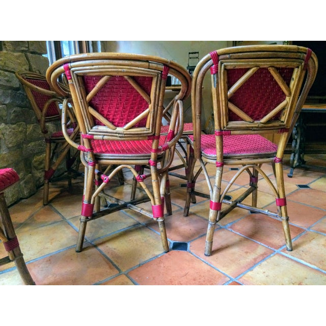 Vintage Woven French Bistro Chairs - Set of 6 - Image 10 of 11