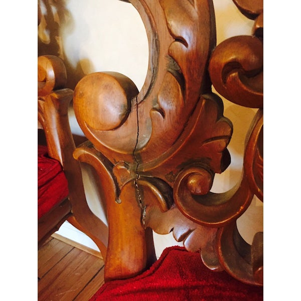 Image of French Rococo Wood Dining Set