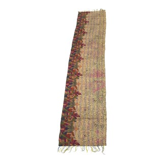 Tribal Design Silk Kantha Table Runner