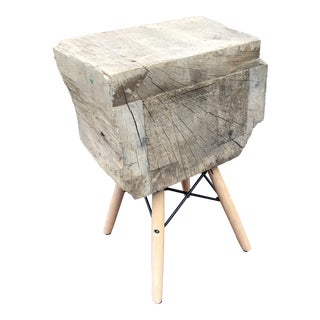 Brooklyn Pier Wood Slab Stool