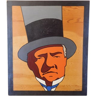 Charles Hall Large WC Fields Pop Art Painting