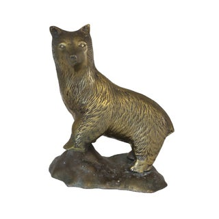 Brass Standing Bear