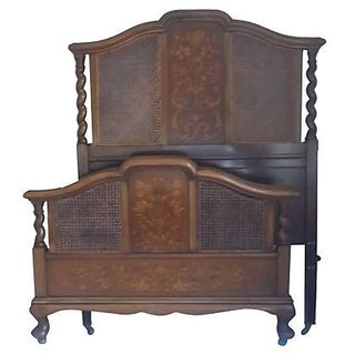 Early 20th Century English Walnut Twin Bedframe