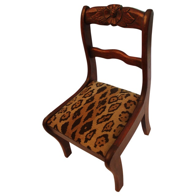 Image of Child Size Decorative Chair with Needlepoint Seat