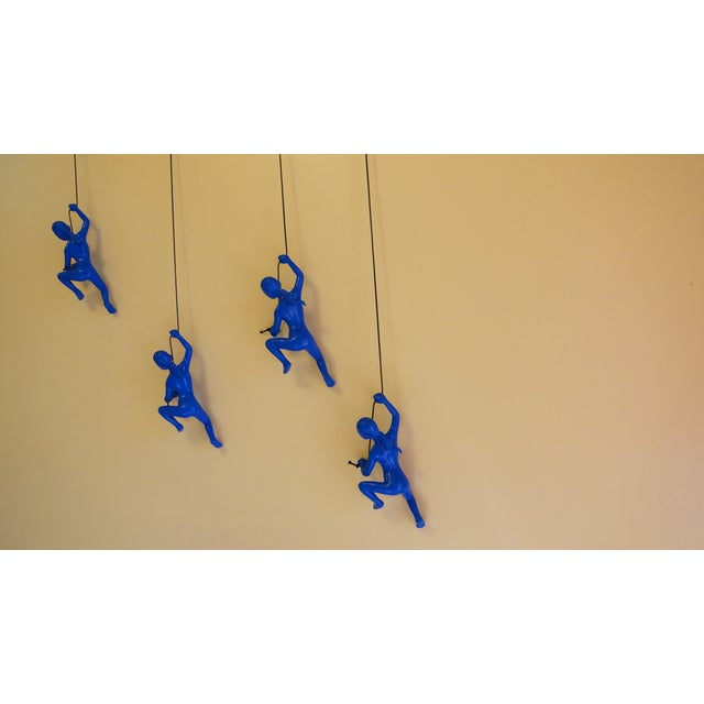 Image of Blue Climbing Girl Wall Art