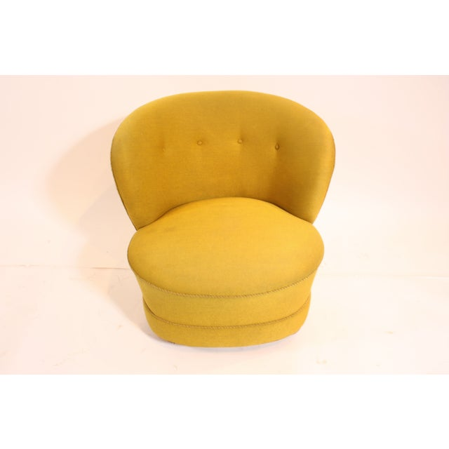 Image of 1940s Chartreuse Slipper Chair