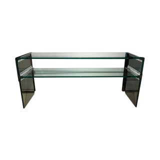 Pace Collection Waterfall Glass Console or Sofa Table