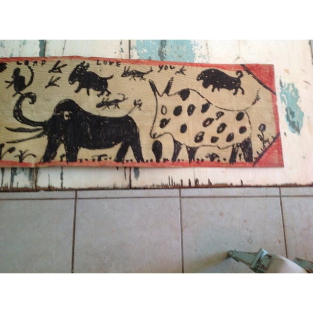 Vintage Folk Art Primitive Native Painting - Image 6 of 9